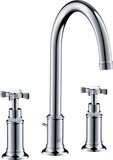 Hansgrohe Axor Montreux 3-hole basin mixer 180, pop-up waste