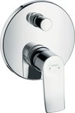 Hansgrohe Metris single-lever bath mixer flush-mounted with fuse combination 31487000
