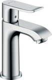 Hansgrohe Metris single-lever basin mixer 100 with waste for hand-rinse basin 31...