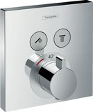 hand-sized ShowerSelect thermostat, flush-mounted, 2 consumers, 15763