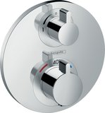 hansgrohe Shower Tablet Ecostat S thermostat, flush-mounted, 2 consumers, chrome...