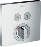 Hansgrohe ShowerTablet ShowerSelect Mixer, flush-mounted, 2 consumers, chrome