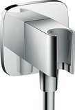 Hansgrohe FixFit wall connection E with shower holder, chrome