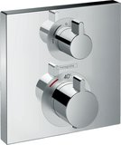 Hansgrohe ShowerTablet Ecostat Square Thermostat, flush-mounted, 1 consumer, chr...