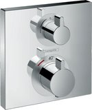 hansgrohe ShowerTablet Ecostat Square Thermostat, flush-mounted, 2 consumers