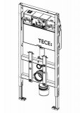 TECElux WC module 100, height 1120 mm,