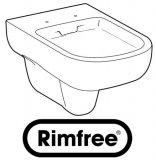 Keramag GmbH Keramag Smyle Tiefspül-WC, spülrandlos, wandhängend, 6l, Farbe: Weiß, mit KeraTect 205560600