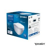 Duravit Starck 3 SET wall-hung WC rimless (flush rimless) incl. WC seat with sof...