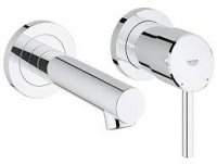 Grohe Concetto 2-hole basin mixer wall-mounted