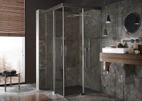 Koralle S606Plus made to measure corner shower sliding door EDS2 L, width: 800-1...