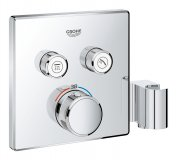 Grohe Grohtherm SmartControl thermostat with two shut-off valves, integrated sho...