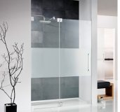 HSK K2 frameless hinged door hinged with fixed panel for niche K2.04, up to 1000...
