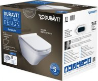 Duravit DuraStyle wall-mounted WC Duravit Rimless Set 455109, incl. WC seat