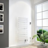 HSK Yenga bathroom radiator for purely electrical operation, 600 W, size: 60.0 x 118.6 cm, heating element whi...
