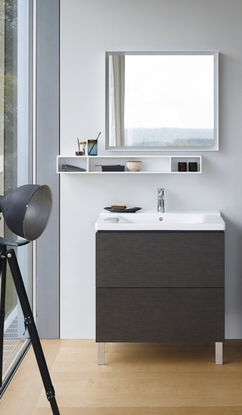 Duravit L-Cube Vanity unit vertical 48.4 x 45.9 cm, 2 pull-outs, for Vero Air 235050