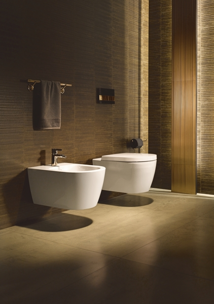 Duravit ME by Starck Compact WC seat, stainless steel hinges, without soft-closing mechanism