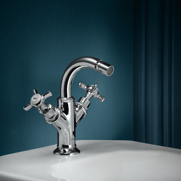 Hansgrohe Axor Montreux 2-handle bidet mixer, pop-up waste