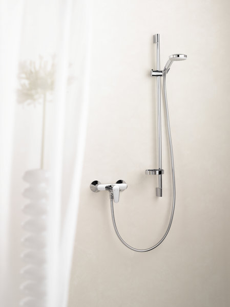 Hansgrohe Croma 100 Shower set Multi with shower bar 90 cm and soap dish, 27774000, chrome