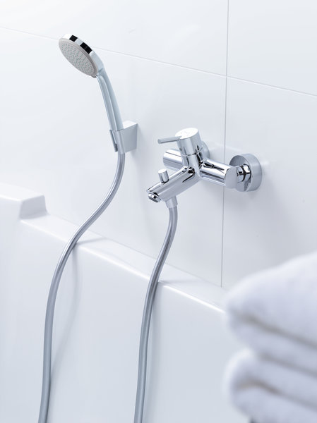 Hansgrohe Talis Single lever surface mounted bath mixer, projection 158.5-166mm