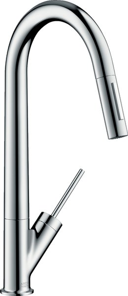 Hansgrohe Axor Starck single lever kitchen mixer 270 with pull-out shower