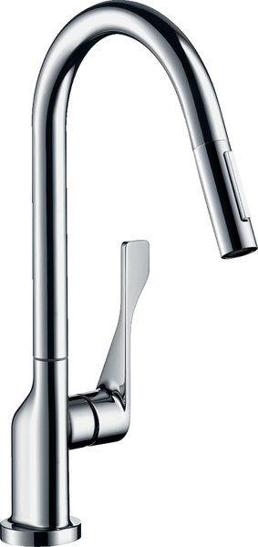 Hansgrohe Axor Citterio DN15 Single lever kitchen mixer 250 with pull-out shower