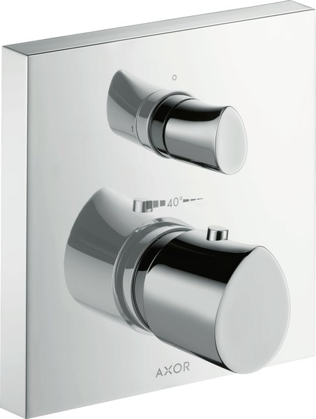 Hansgrohe AXOR Starck Organic Thermostat flush-mounted with shut-off valve, 1 consumer