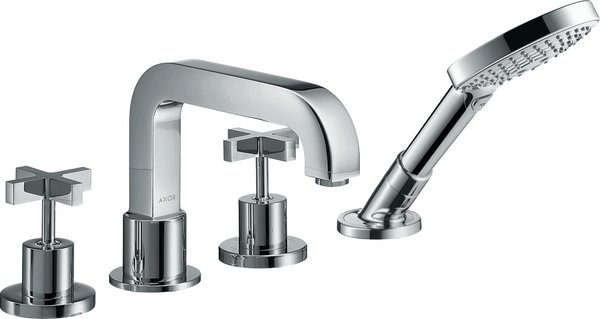 Hansgrohe Axor Citterio 4-hole tile edge fitting with cross handles