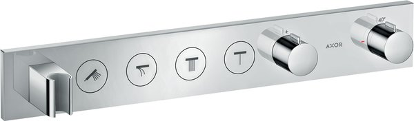 Hansgrohe AXOR ShowerSolutions thermostat module Select 600/90, flush-mounted, 4 consumers, complete set