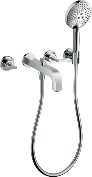 hand-sized Axor Citterio 3-hole bath fitting with lever handles