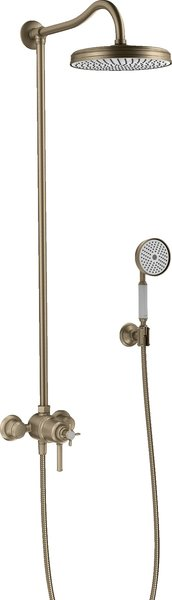 Hansgrohe Axor Montreux Showerpipe with thermostat and 1 jet shower head