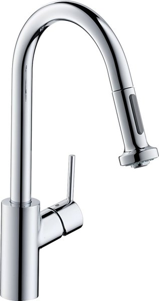 Hansgrohe Talis S² Variarc single lever kitchen mixer 220, front window mounting, pull-out shower, 2jet, chrome-plated