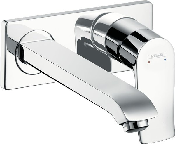 Hansgrohe Metris flush-mounted single-lever basin mixer with spout 225 mm for wall mounting 31086000
