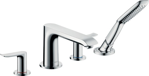 Hansgrohe Metris 4-hole single-lever bath rim mixer chrome, 31442000