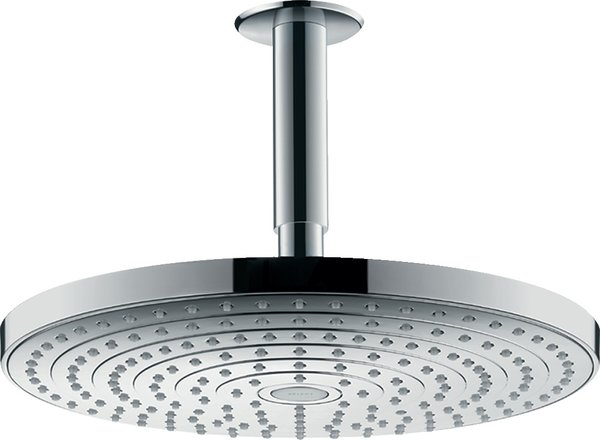 Hansgrohe Raindance Select S300 2 jet overhead shower head with ceiling connection, 27337