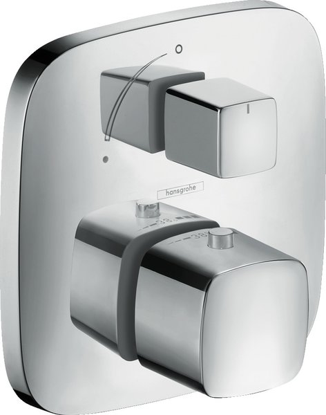Hansgrohe PuraVida thermostat flush-mounted with shut-off valve, 1 consumer