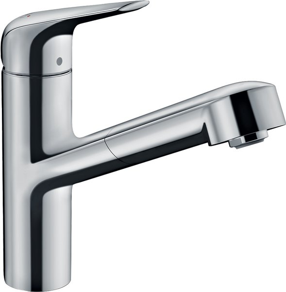 Hansgrohe Focus M42 single lever kitchen mixer 150, pull-out spout, 1jet
