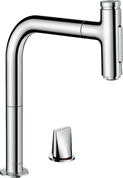 hansgrohe Metris Select M71 2-hole single lever kitchen mixer 200, pull-out shower, 2jet, sBox