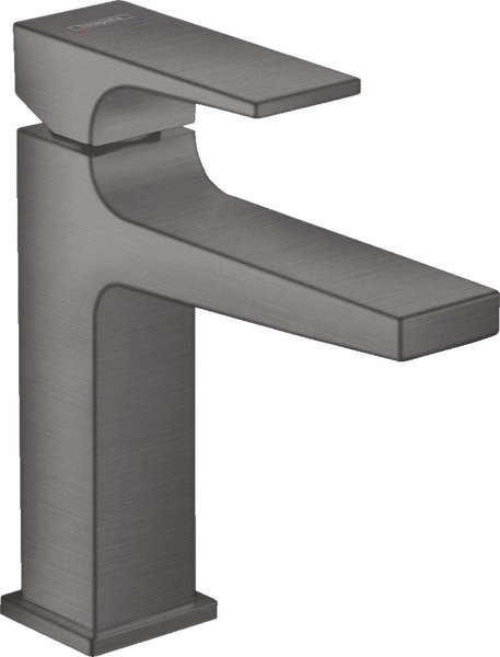 hansgrohe Metropol single-lever basin mixer 110, with lever handle, push-open pop-up waste, projection 135mm