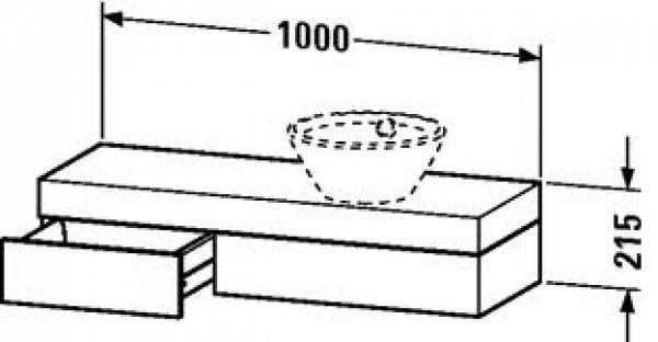 duravit fogo konsole 8373 1000mm f r aufsatzschalen und halbeinbauwaschtisch. Black Bedroom Furniture Sets. Home Design Ideas