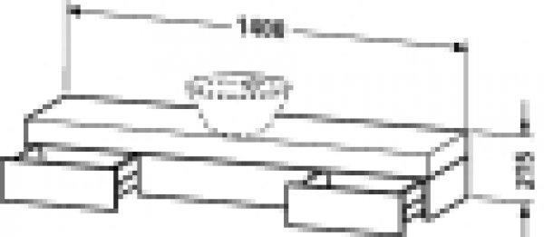duravit fogo konsole 8382 1400mm f r aufsatzschalen und. Black Bedroom Furniture Sets. Home Design Ideas