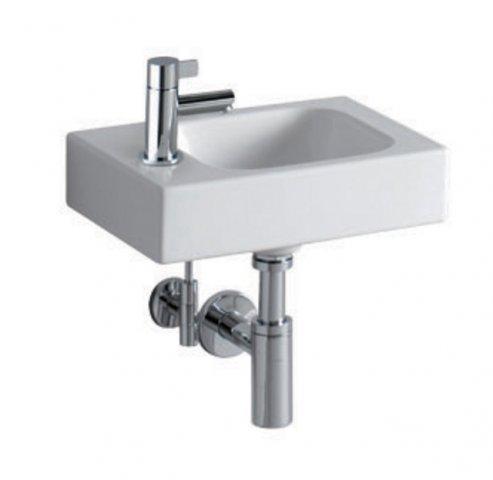 Keramag icon xs handwaschbecken 380x280mm weiss mit for Handwaschbecken klein
