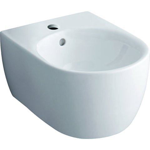 Keramag iCon bidet, wall-mounted, white