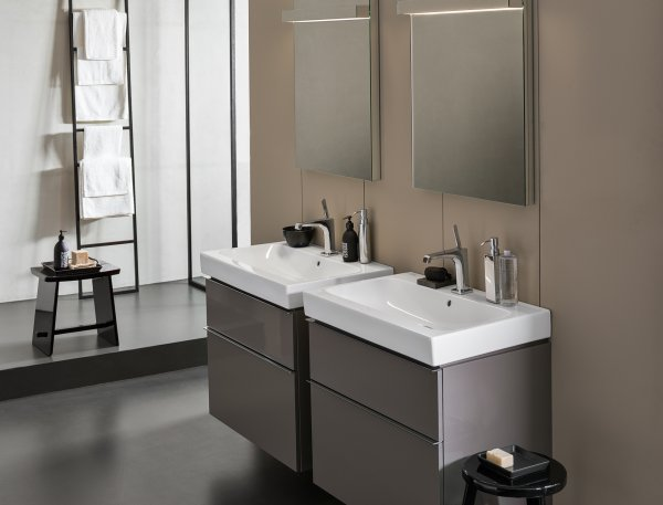 Keramag iCon Vanity unit 840360 595x620x477 mm, Alpine high gloss