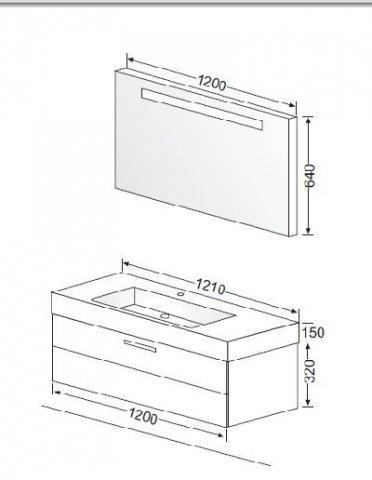 burgbad crono badm belanlage 01 spiegel mineralguss waschtisch. Black Bedroom Furniture Sets. Home Design Ideas