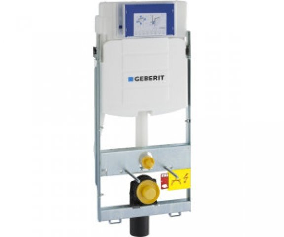 Geberit GIS wall-mounted WC element UP320 114 cm, with Sigma UP cistern 12 cm, for front operation