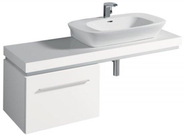 keramag silk waschtischplatte 816641 140x10x47cm ausschnitt rechts. Black Bedroom Furniture Sets. Home Design Ideas