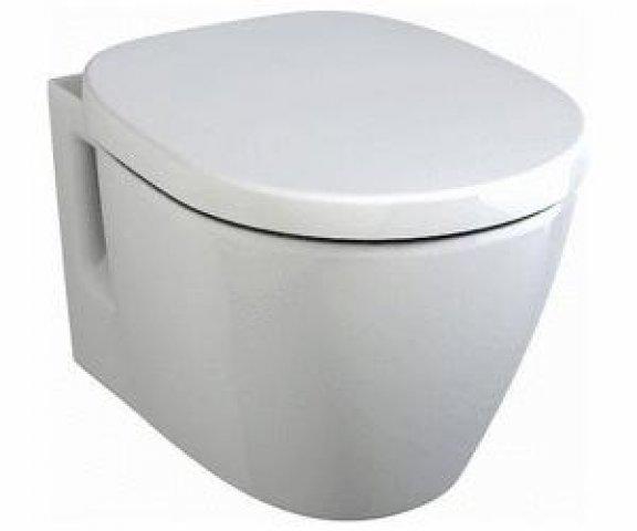 Ideal Standard Connect Wandtiefspülklosett kompakt E8018, Farbe: Weiß