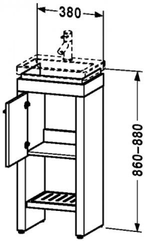Duravit 2nd floor Waschtischunterschrank stehend 6455 | {Waschtischunterschrank stehend 93}