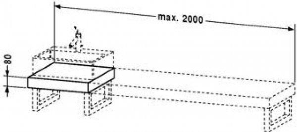 duravit fogo konsole variabel 089c 1400mm mit einem. Black Bedroom Furniture Sets. Home Design Ideas