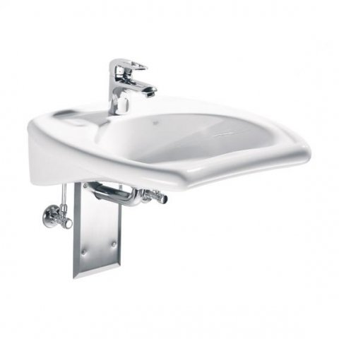 Keramag Vitalis washbasin, 55cm wheelchair accessible, with overflow